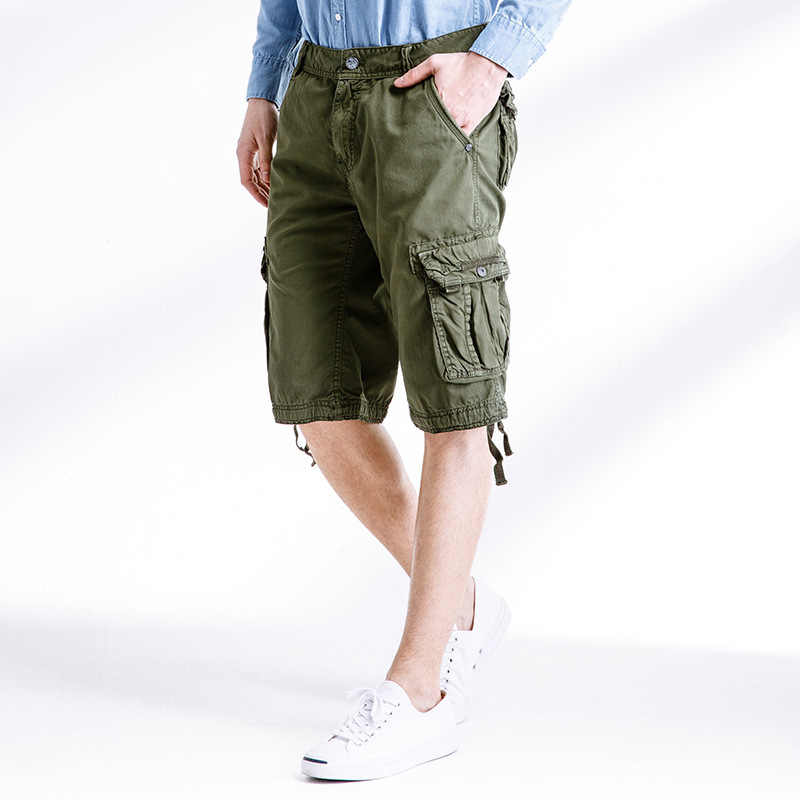912bf430c9 2019 Summer Men's Army Work Casual bermuda cargo Shorts Men Fashion Joggers Overall  military Tactical Trousers