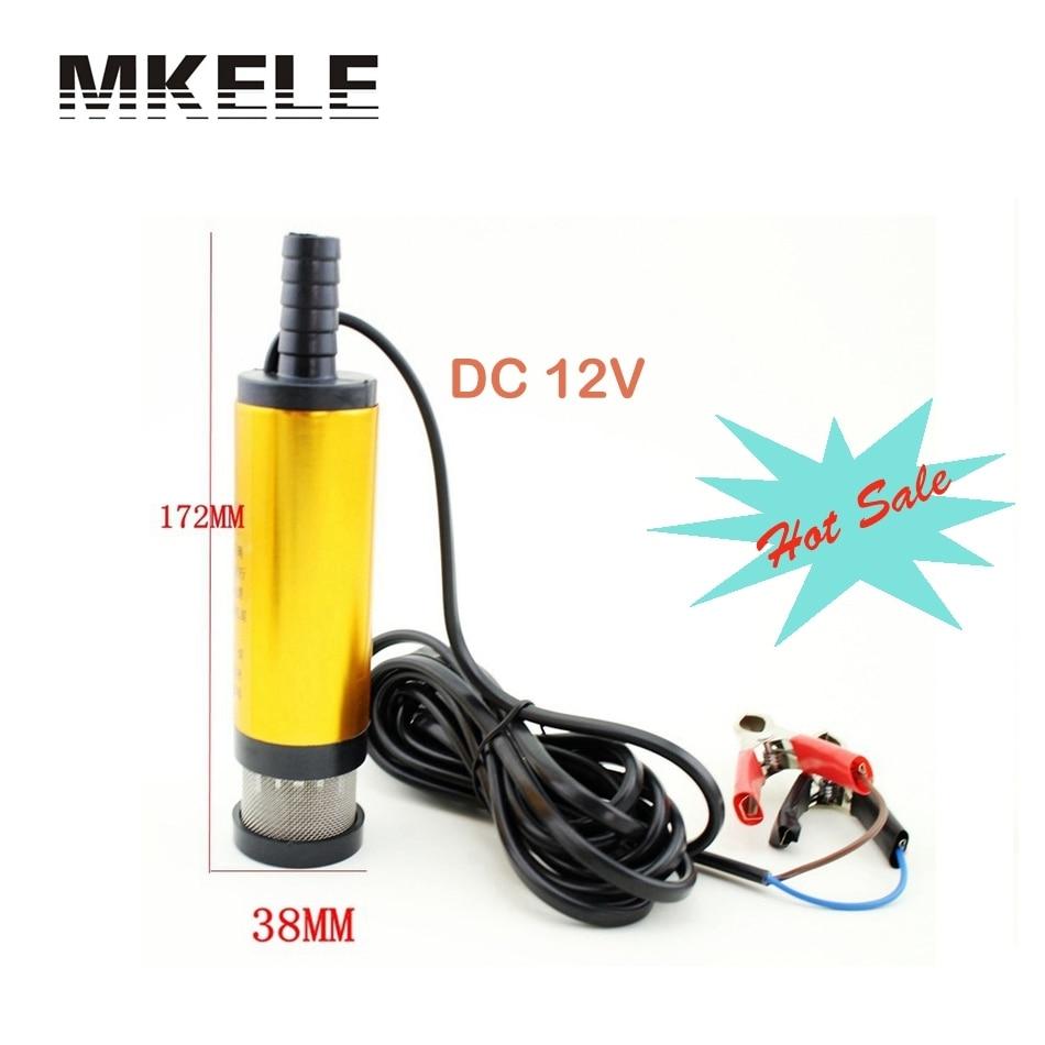Лидер продаж мини 12 В Диаметр 38 мм электрических Вода Масло автомобилей Кемпинг погружной насос перекачки алюминиевый сплав ремень фильтр ...