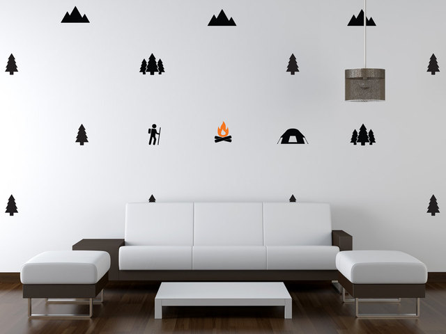 Giant Full Wall Adventure Wall Decal C&ing Nursery Boy Wall Decal Woodland Wall Stickers for Nursery & Giant Full Wall Adventure Wall Decal Camping Nursery Boy Wall Decal ...