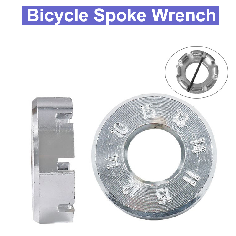 URANN Bicycle Spoke Wrench Tool Mountain Bike Demolition Axis Repair Tools Cycling Parts Chrome Plated Spanner Wrench Tool