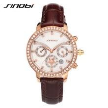 SINOBI Date Style Girls Quartz Watch Excessive High quality Enterprise Workplace Relogios Feminino 2017 New Design Hardlex Feminine Wristwatch