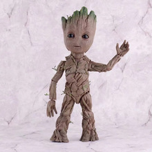 Movie Tree Man Baby Action Figure Hero Model Guardians of The Galaxy Model Toy PVC Desk Decoration Gifts for Kids rmdmyc toy guardians of the galaxy rocket racoon groot action figure 16cm groot 1 10 scale painted anime figure pvc model gifts