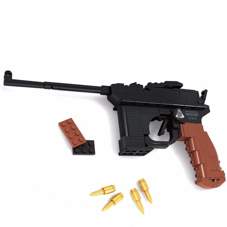 Luger GUNS//ARMES à FEU en cuir porte-clés