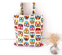 Hot Canvas Cartoon Printing Owl Bag Designer Retro Women Floral Handbags High Quality Tote Shoulder Shopping Bags Female