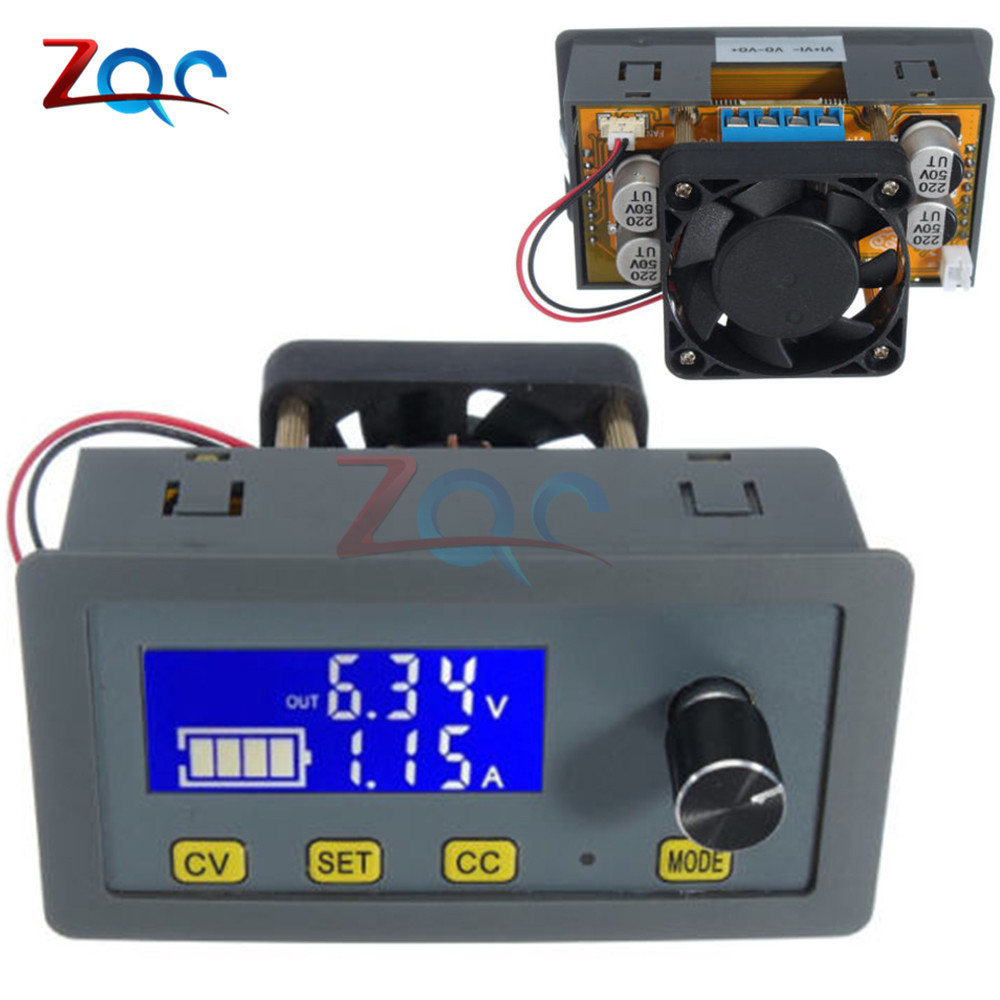 5A LCD Digital DC-DC Step Down Buck 160W Adjustable Voltage Regulator 6V-32V to 0-32V DC-DC Step Down Converter With Fan 1pc 5a dc dc step down module adjustable step down voltage buck module power supply 6v 32v to 0 32v lcd display converter