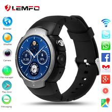 LEMFO LEM3 3G wifi Reloj teléfono Inteligente Android 5.1 OS MTK6580 Quad A Core smartwatch teléfono Soporte google mapa Del Ritmo Cardíaco monitoreo