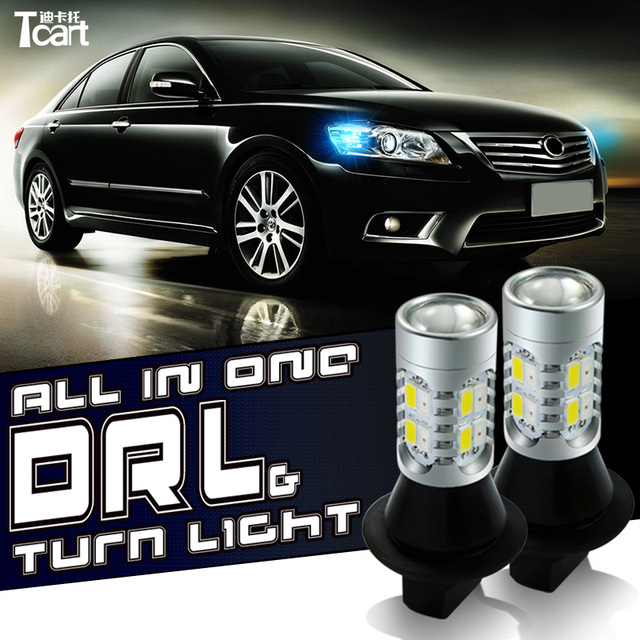 Tcart Auto Led Front Turn Signal DRL Daytime Running Lights For Chevrolet Sonic Auto Led Lamps PY21W BAU15S 1156