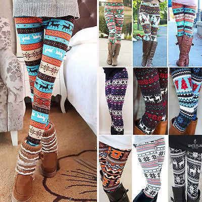Winter Warm Christmas Snowflakes Leggings