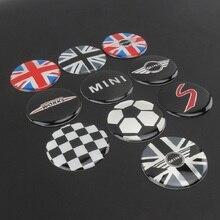 4 pièces/ensemble 52mm Logo de voiture emblème roue jante centrale moyeu capuchons autocollants de couverture pour BMW Mini Cooper R56 R50 R53 F56 F55 R60 Countryman