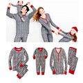 4 sets Familia Trajes A Juego Copo de Nieve Hombres Mujeres Trajes De Navidad Los Niños Homewear Pijamas de Algodón ropa de Dormir de Impresión de Navidad
