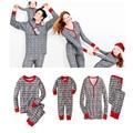 Cotton Family Matching Outfits Snowflake Men Women Christmas Costume Children Home Wear Pajamas Cotton Christmas Print Sleepwear