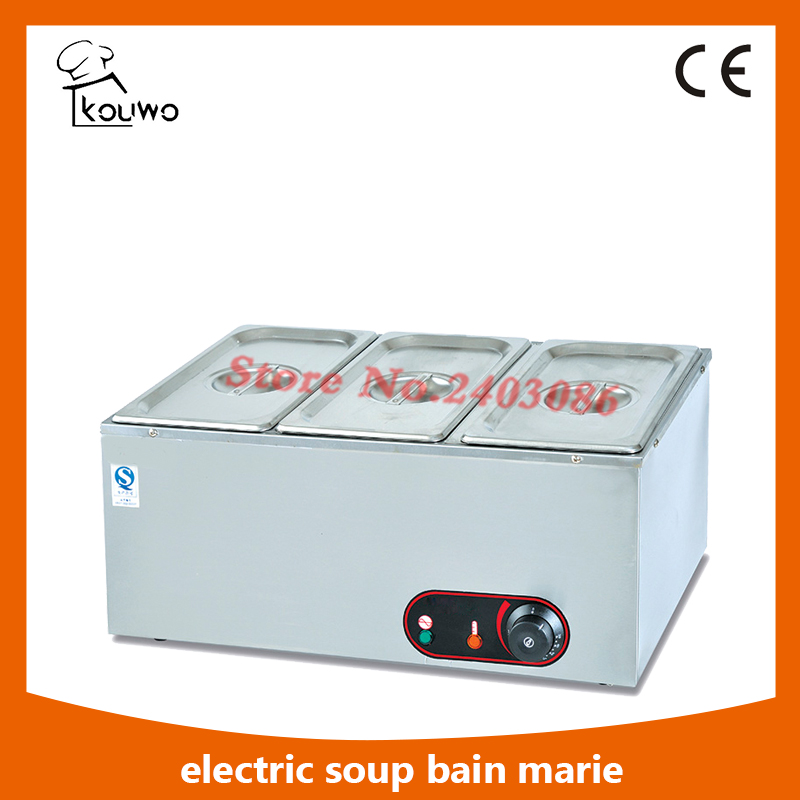 Commercial table counter top catering kitchen Equipment Electric stainless steel 3 Pans food warmer Bain Marie for sale
