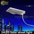 Atualização Super Brilhante 24 LEDs Solar Rua Luz Solar Sensor De Luz DIODO EMISSOR de luz na Parede À Prova D' Água de Segurança Ajustável Iluminação Pontual