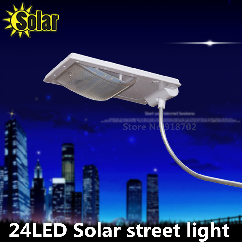 Updated Super Bright 24 Leds Solar Street Light Led On The