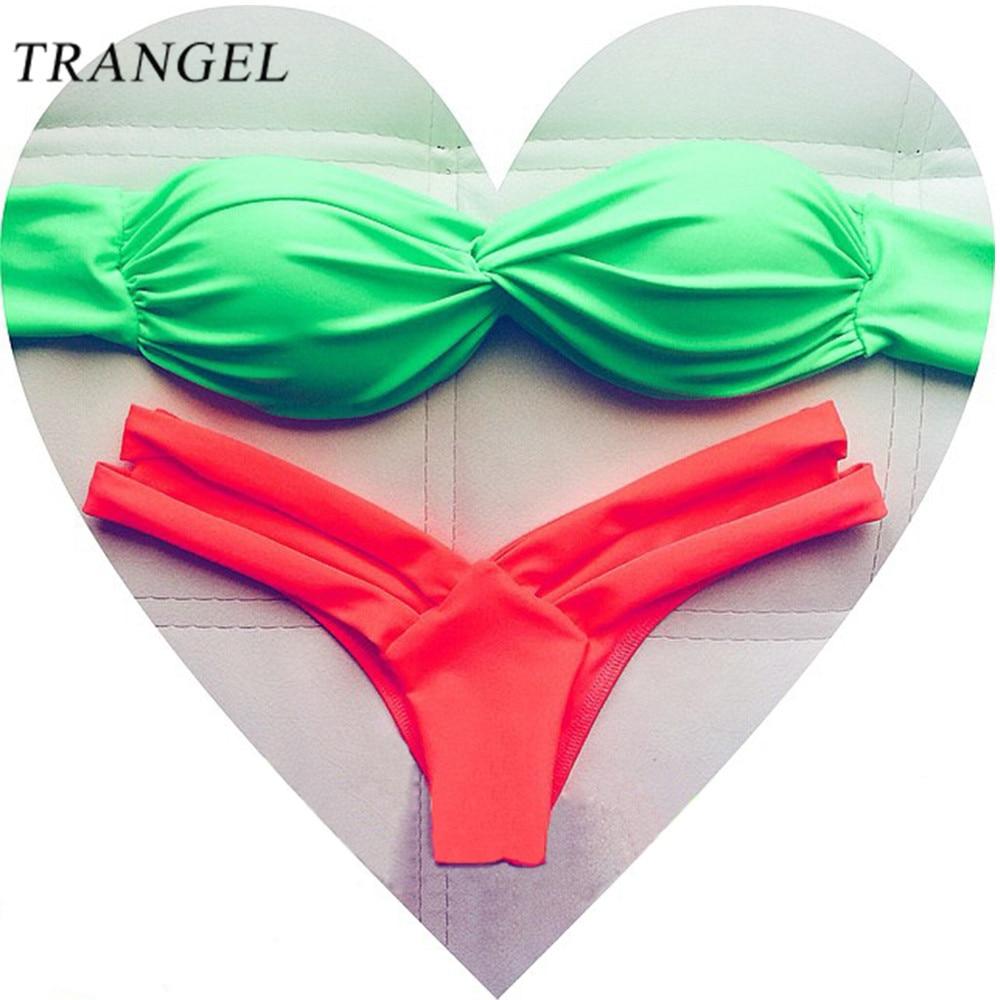 Brazilian Bikini Set swimsuit Cut out Swimwear Bathing Suit Twist Bandeau Micro Thong Bikini 2016 Swim