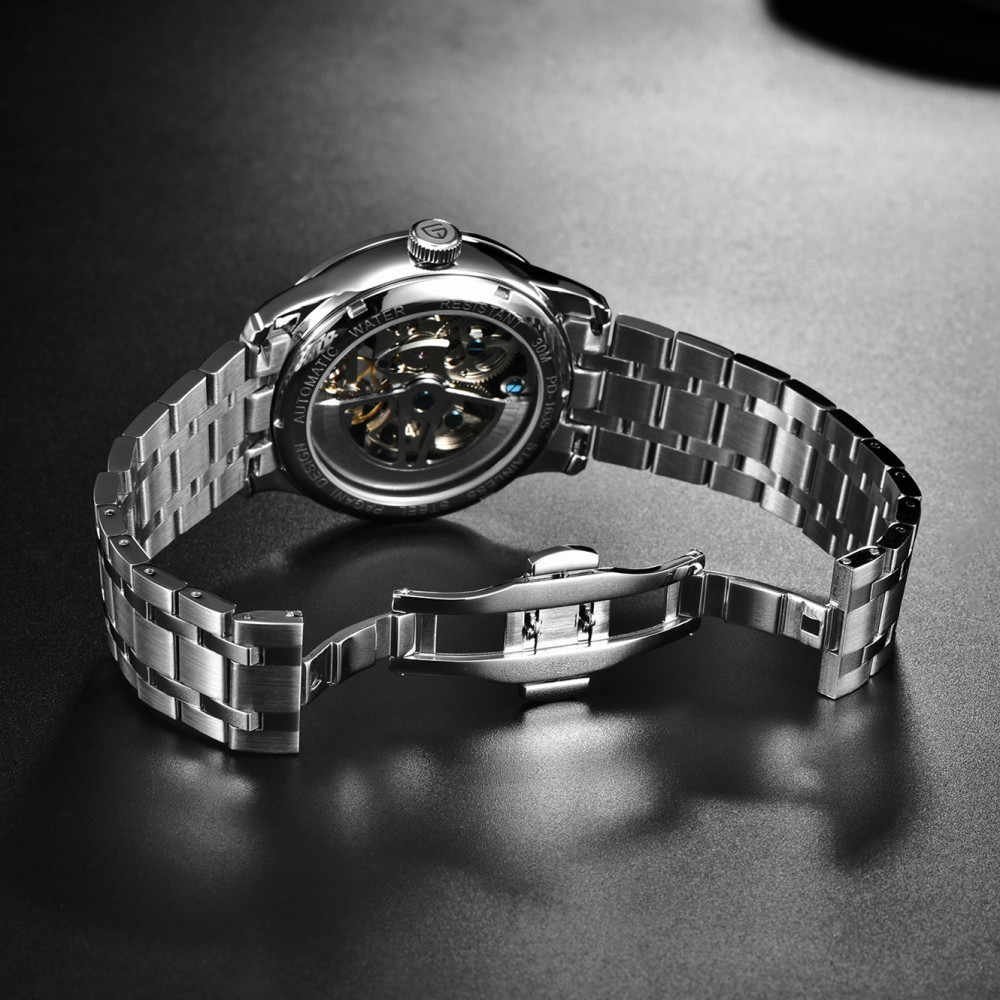 2019 nuevo PAGANI diseño de moda de los hombres reloj Tourbillon de marca de lujo mecánico automático de acero hombre Relogio Masculino Saat