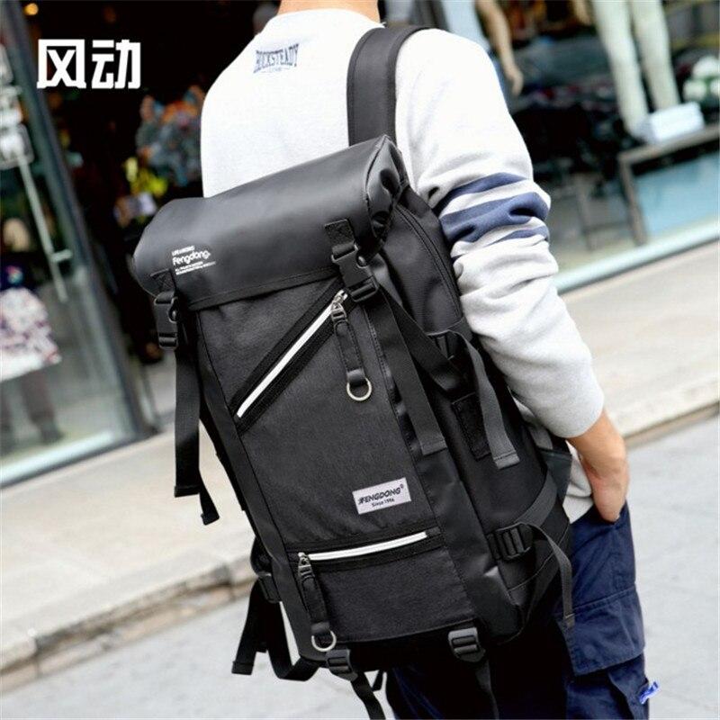 Hot menswaterproof backpack Nylon leisure student schoolbag large capacity multi-function best backpack bag free holograms