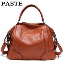 PASTE Lady Real Leather Handbags Famous Brands Designer Handbags High Quality Tote Bag Bolsa Femininas European