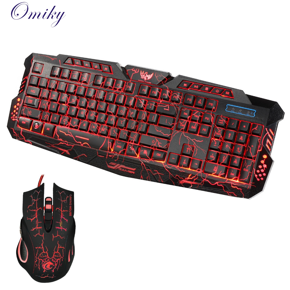 LED Gaming 5500DPI Wire 2.4G keyboard And Mouse Set to Computer Multimedia Gamer 18Mar13