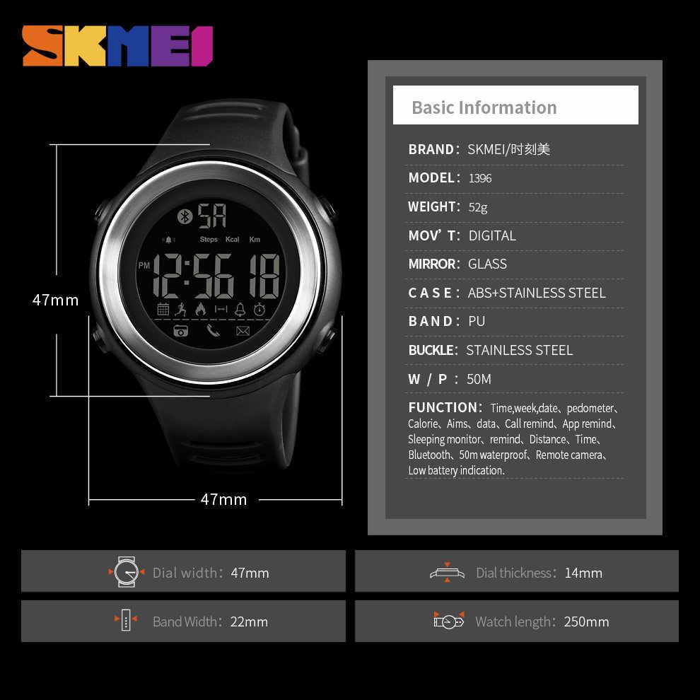 SKMEI 1396 Men Smart Sports Digital Wrist Watches Man 50m Waterproof Watch Calories Pedometer Sleeping Monitor Relogio Masculino