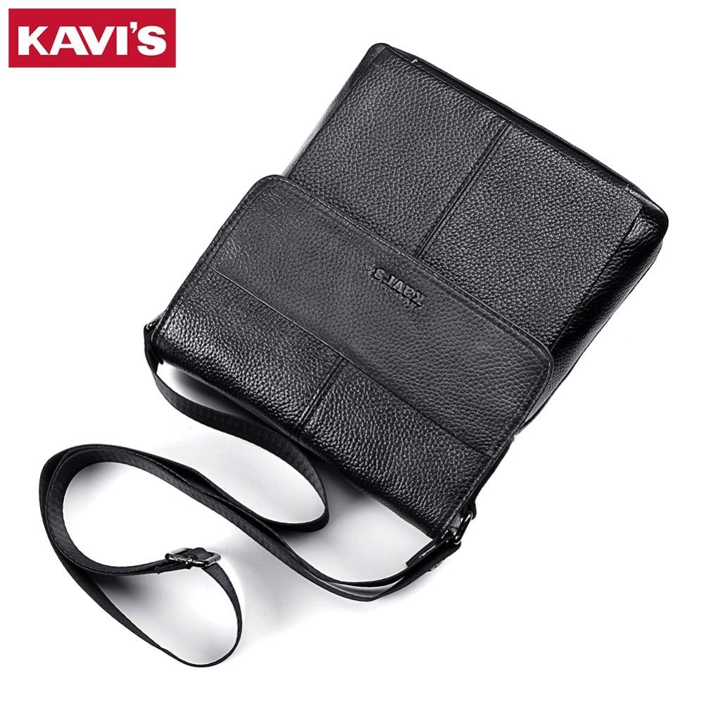 KAVIS Messenger Tasche männer Schulter Tasche Aus Echtem Leder Handtasche Bolsas Schlinge Tote Brust Aktentasche Männlichen für Kleine Mini