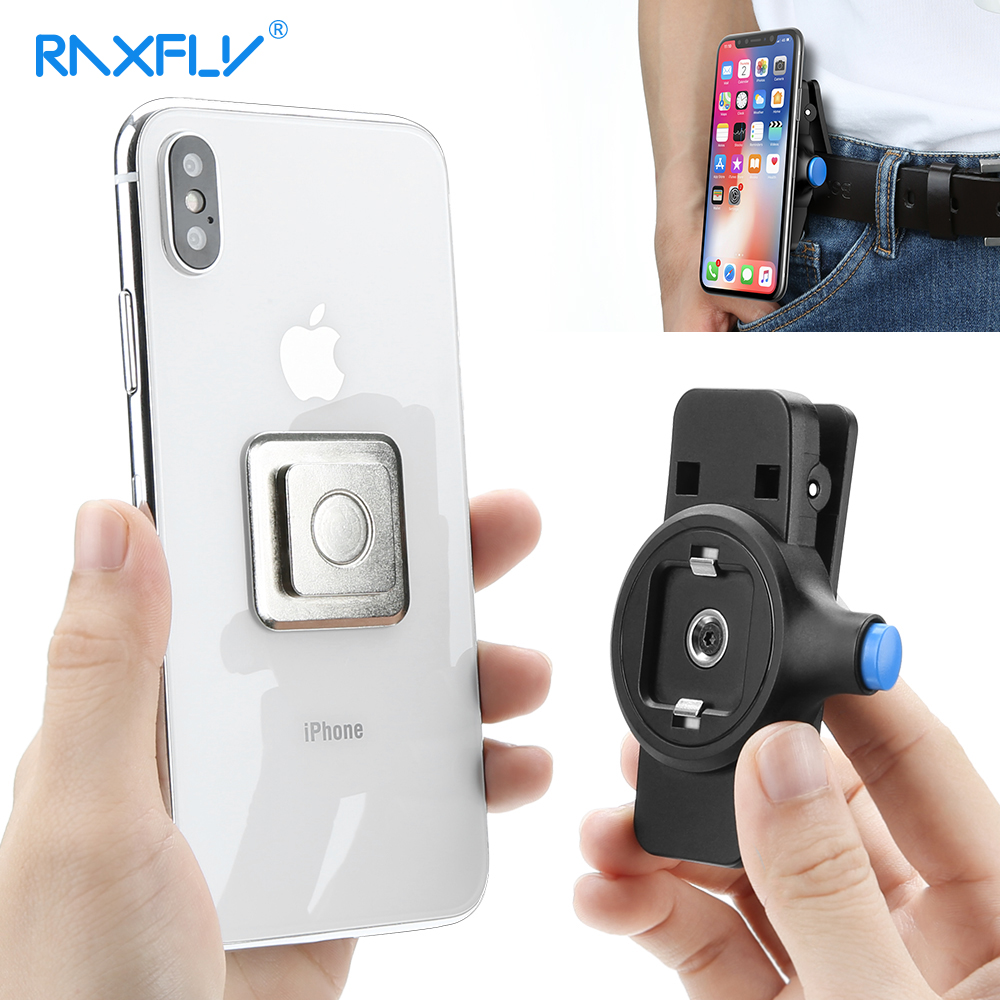 RAXFLY Phone Waist Clip For iPhone X 8 7 6 6S Plus Universal Magnetic P