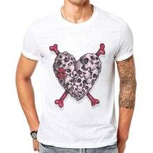 цены New Arrival Fashion Men Clothing Horror Skull Printed Hipster Cool Tee Shirts Short Sleeve T-Shirt Mens Tshirts Camisetas Hombre
