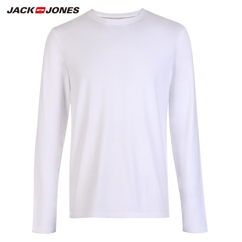 JackJones Men s Elastic Cotton Spandex O neck Long sleeved T shirt Tops Pajamas Homewear T