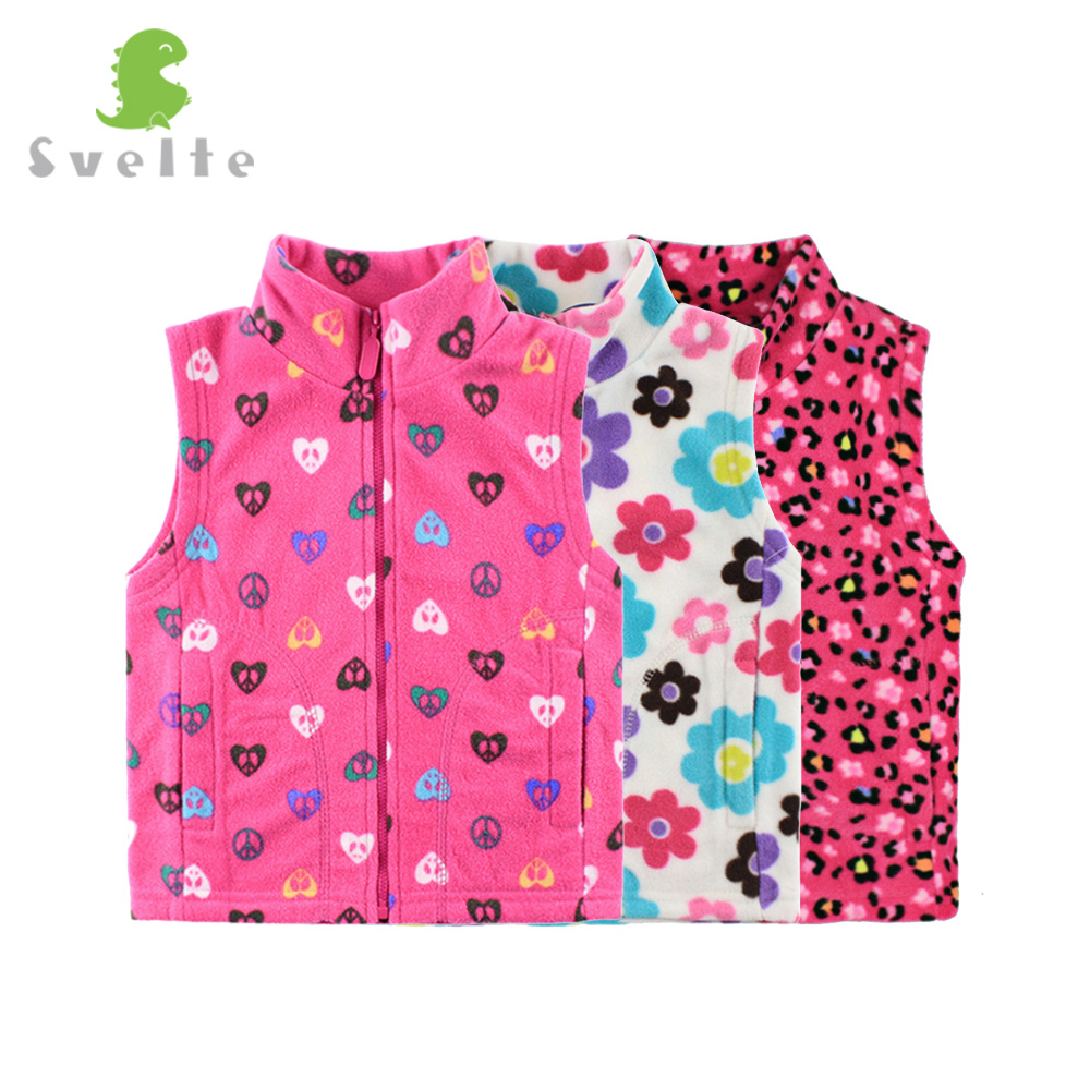 Svelte Brand Spring Fall Autumn Winter Children Girls Fleece Vest Kids Boys' Woolen Prints Waistcoat Vetement Enfant Gilet Veste цена 2017