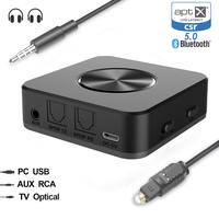 Portable Bluetooth 5.0 Aptx Low Latency Transmitter Speaker Receiver A2DP Optical SPDIF Aux 3.5mm Stereo Audio Adapter FOR TV