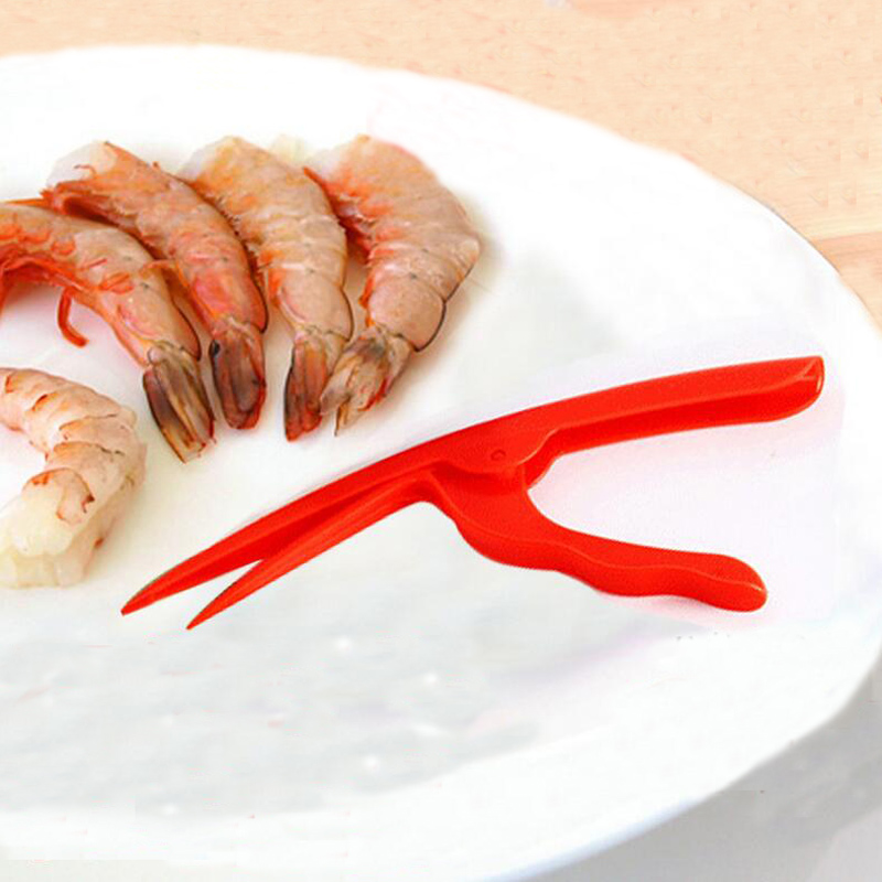 Hot 1Pc Portable Plastic Creative Seafoods Shrimp Deveiners Peeliers Easy To Operate Home Outdoor Kitchen Cooking Gadgets Tools