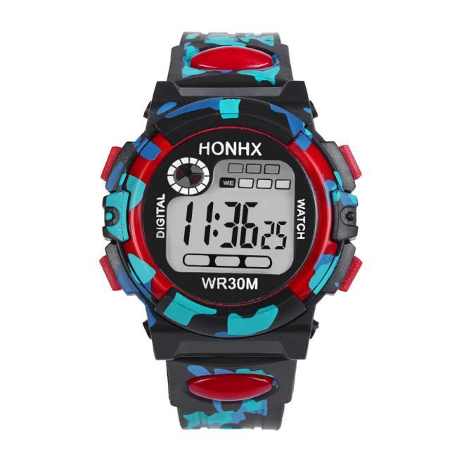 6648e04f75a2 Espléndido niños niño chica multifunción impermeable deportes reloj  electrónico Relojes