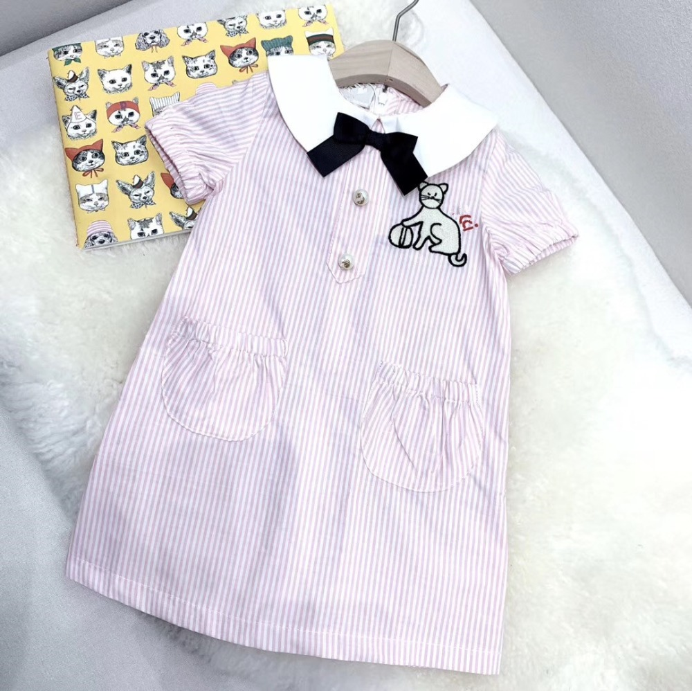 summer kids clothes striped pink white colour sweet toddler baby dresssummer kids clothes striped pink white colour sweet toddler baby dress