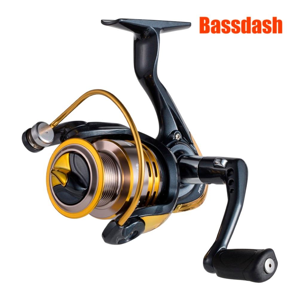 Bassdash Spinning Fishing Reels for Freshwater Fishing 9 + 1 BB Ultra Smooth Powerful
