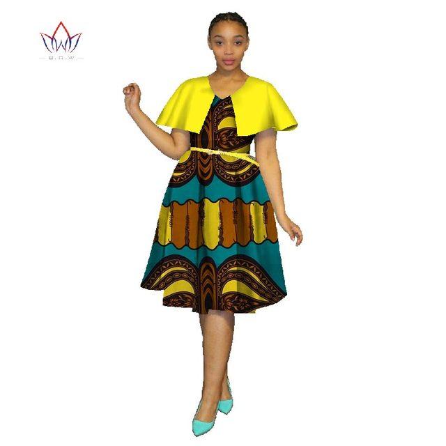2018 New African Dresses Plus Size Women Fashion Dress 6xl Vestidos