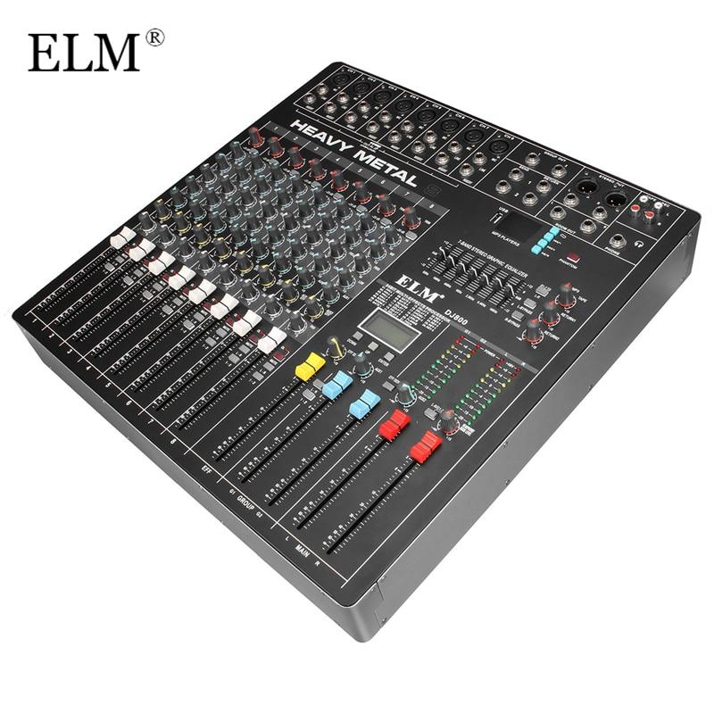 Professionelle Audiogeräte Schlussverkauf Ulme Hohe Qualität Professional Sound Mixer 6 Kanäle Mit Bluetooth Usb Dsp Dj Audio Digital Mixing Konsole Für Audio Karaoke
