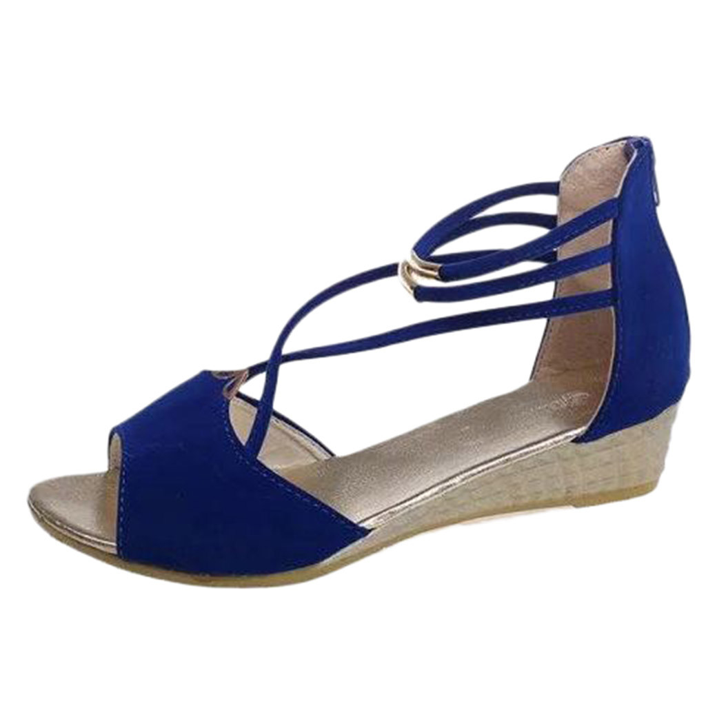 SAGACE Women Solid Color Suede Wedge Fish Mouth Cross Strap Sandal Roman Shoe Casual Corduroy Peep Toe Square heel travel May 17SAGACE Women Solid Color Suede Wedge Fish Mouth Cross Strap Sandal Roman Shoe Casual Corduroy Peep Toe Square heel travel May 17