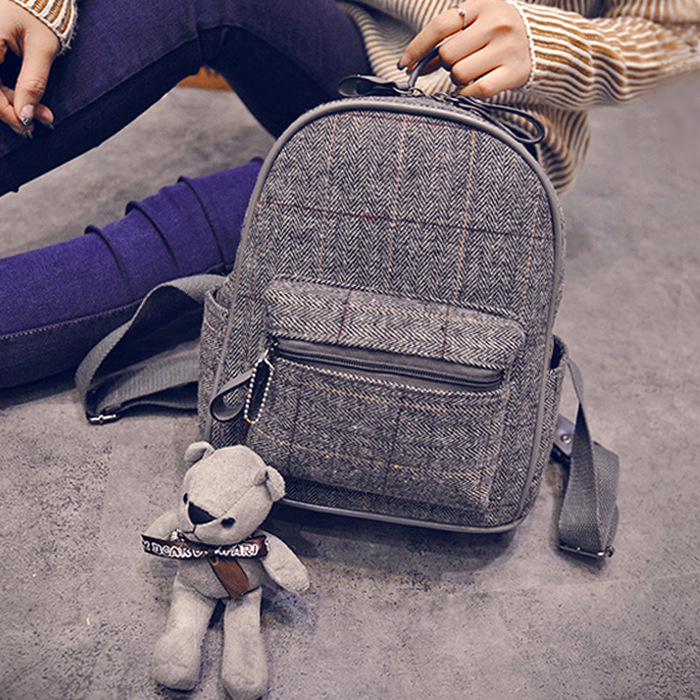 2016 New Design High Quality Brand Woolen Cloth Backpacks for Teenage Girls Women Backpack Schoolbag Travel Bag Mochila Feminina women backpack mochila backpack for travel sac a dos korean style backpacks for teenage girls high quality bag gift for new year