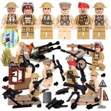 Oenux Recentes 6 PCS WW2 A Batalha De Imphal Cenas Modelo Militar Do Exército do REINO UNIDO Britânico Figuras Building Block Tijolo Educacional brinquedos