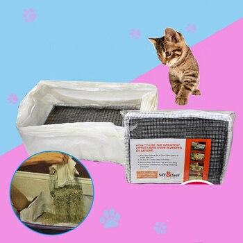 Reusable Pet Cat Feces Filter Net Cats Litter Sifting Tray Elastic Kitten Poop Strainer Cat Litter Box Liners Litters Scoop Bag