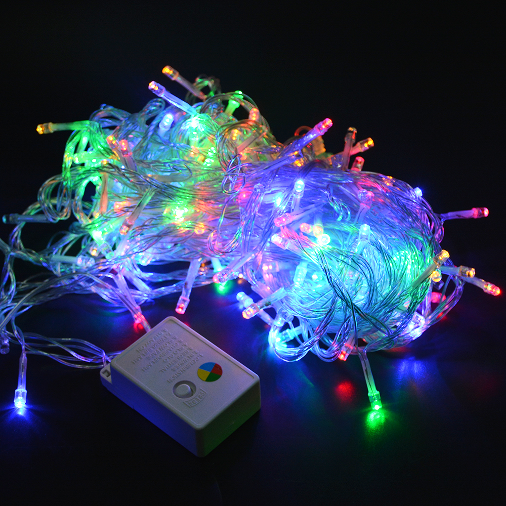10m 20m 30m 40m 100m led holiday string light 220v for 57in led lighted peacock outdoor christmas decoration