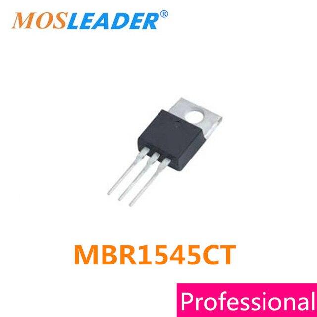 Mosleader MBR1545CT TO220 50 piezas DIP MBR1545 de alta calidad