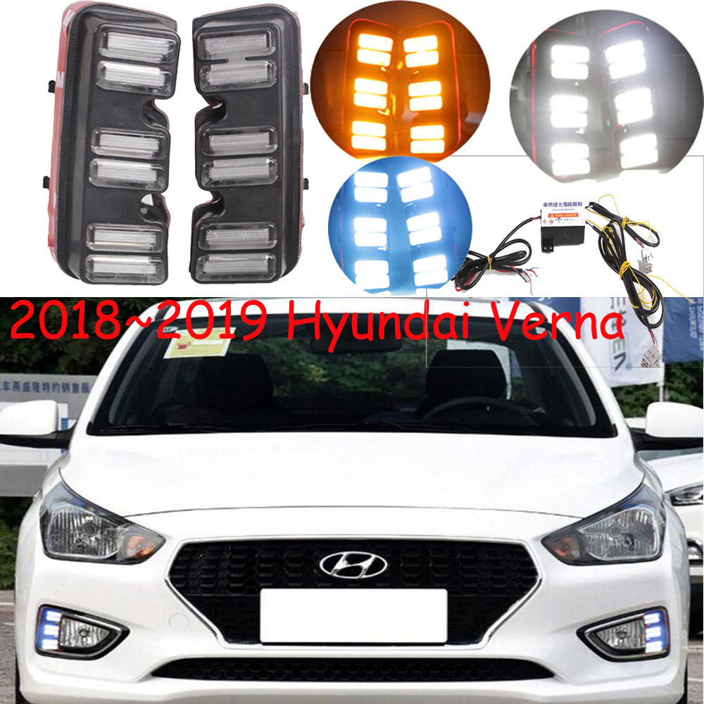 2018year,Verna daytime light,verna taillight,Free ship!accent,LED,Verna fog light,solaris daytime light;solaris;ix35 accent verna solaris for hyundai led tail lamp 2011 2013 year red color yz