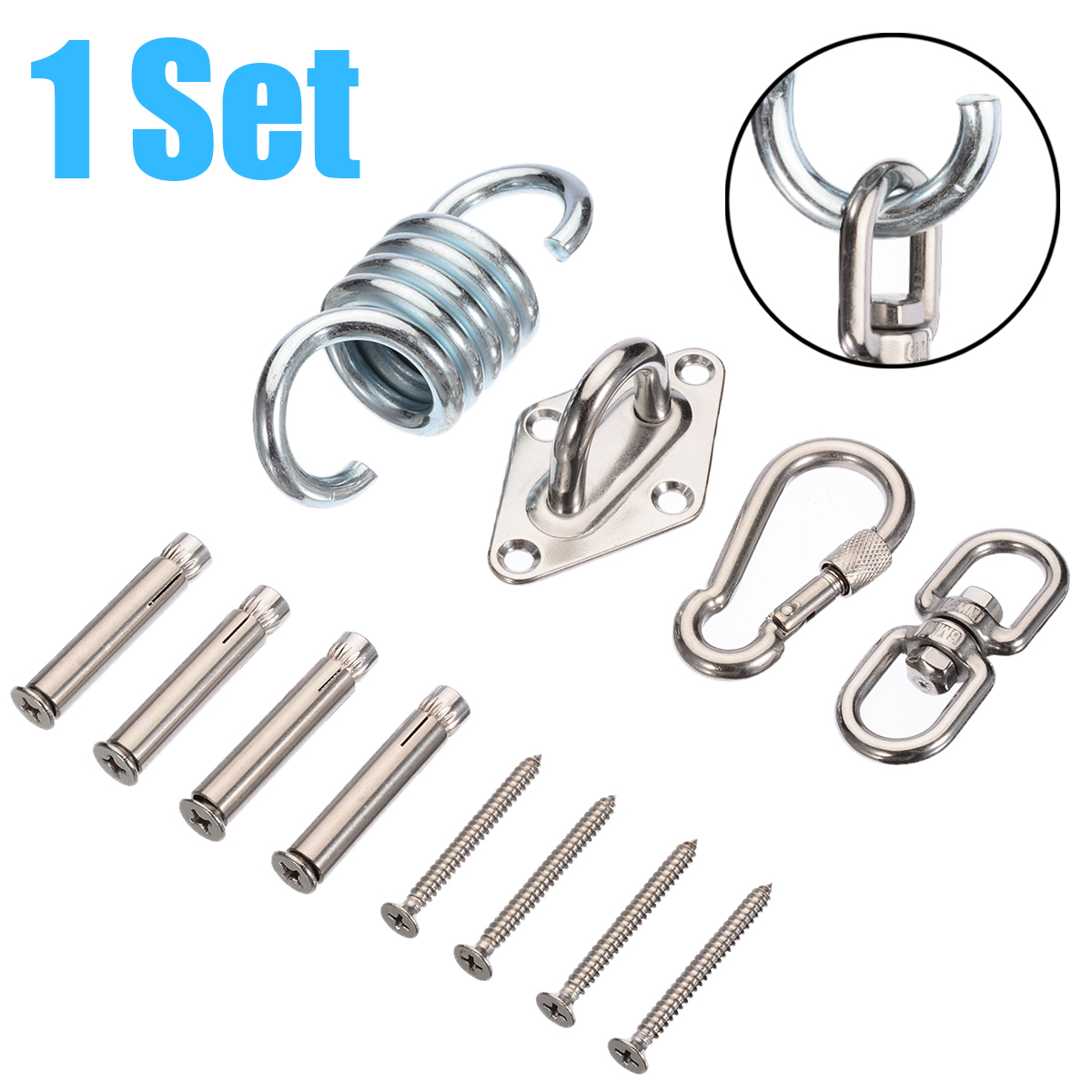 6 Pcs Hanging Chair Hardware Hammock Hook Metal Suspension Swing Hook Kit Garden Swing Kit Chair Hand Tool Set Buy At The Price Of 16 30 In Aliexpress Com Imall Com