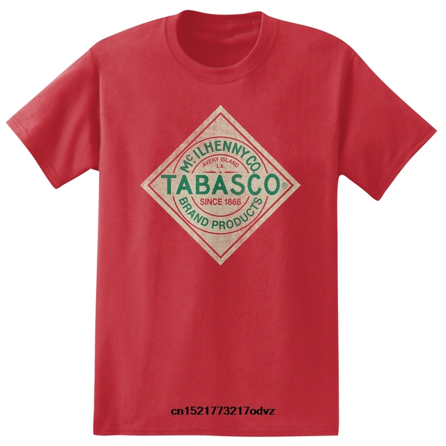 b54bd394a funny t shirt men novelty tshirt Tabasco Sauce Heather T Shirt Label ...