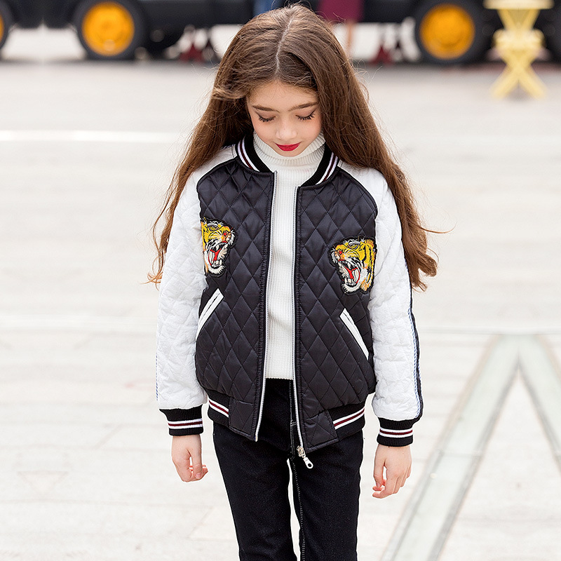 teenage girl jackets winter 2018 child jacket little girls outerwear coats warm parka kids girl baseball coat children clothes winter girl children clothing thick jacket coats for toddler teenage kids girl clothes outfits windbreaker jacket outerwear coat