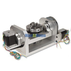 Image 2 - CNC Router Machine Rotary Table 4th & 5th Rotational Axis with Chuck & 57 2 Phase 250 oz in Stepper Motor