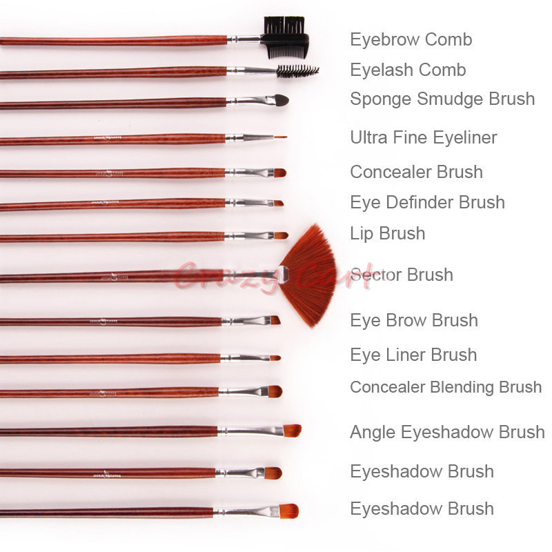 list of eye makeup brushes and their uses. professional brush set 24pcs for salon use makeup brushes \u0026 tools with waist belt leather bag-in from beauty health on list of eye and their uses t