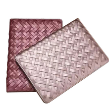 Luxury Handmade Weave Pattern PU Leather Case For iPad 234 Flip Stand Tablet Cover for iPad 2 ipad3 ipad4 CL220
