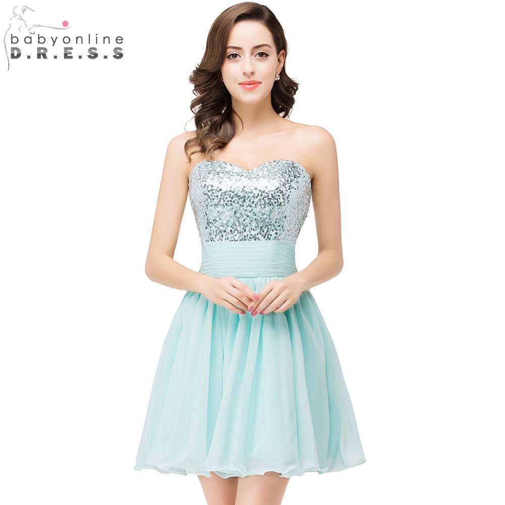 Wedding Silver Cocktail Dress popular silver cocktail dresses buy cheap real picture sequined a line 2017 mint green sweetheart short homecoming party dress
